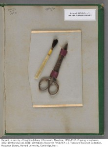 Brush and Scissors from volume 5 of TR Scrapbooks