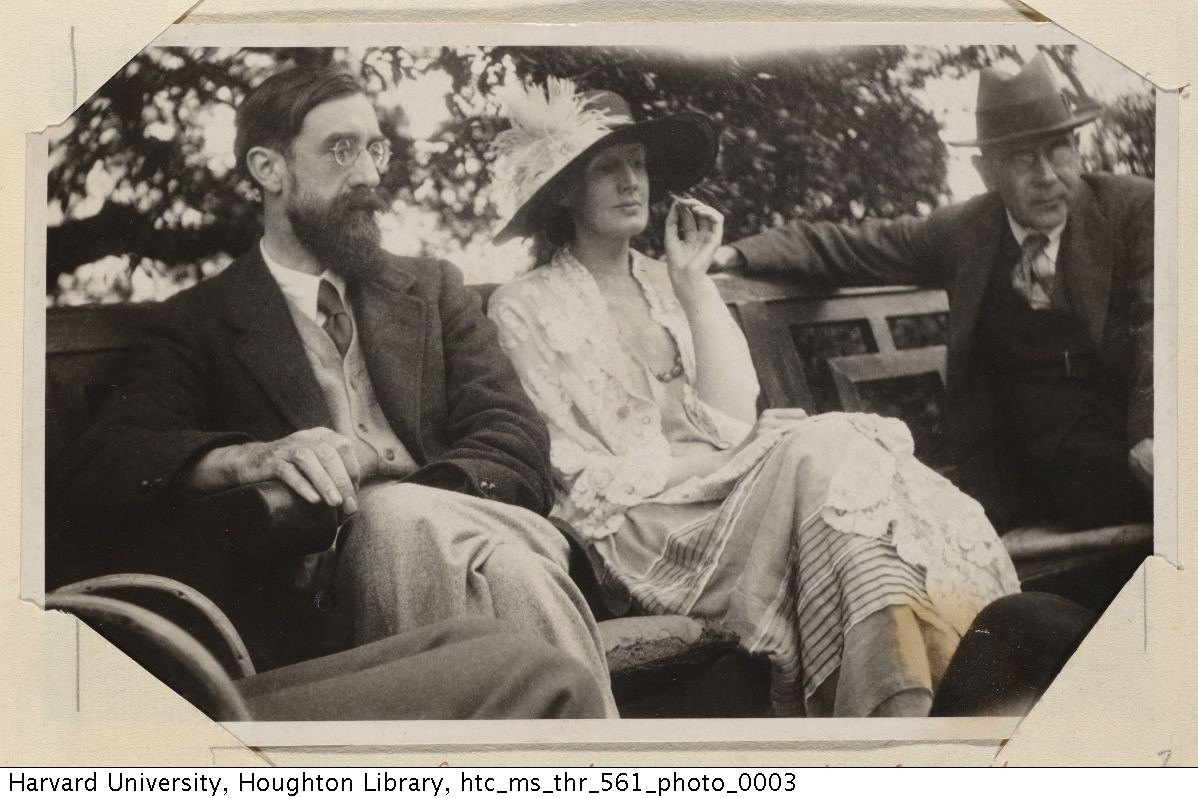 Lytton Strachey, Virginia Woolf, and Goldsworthy Lowes, 1923. MS Thr 561 (2)