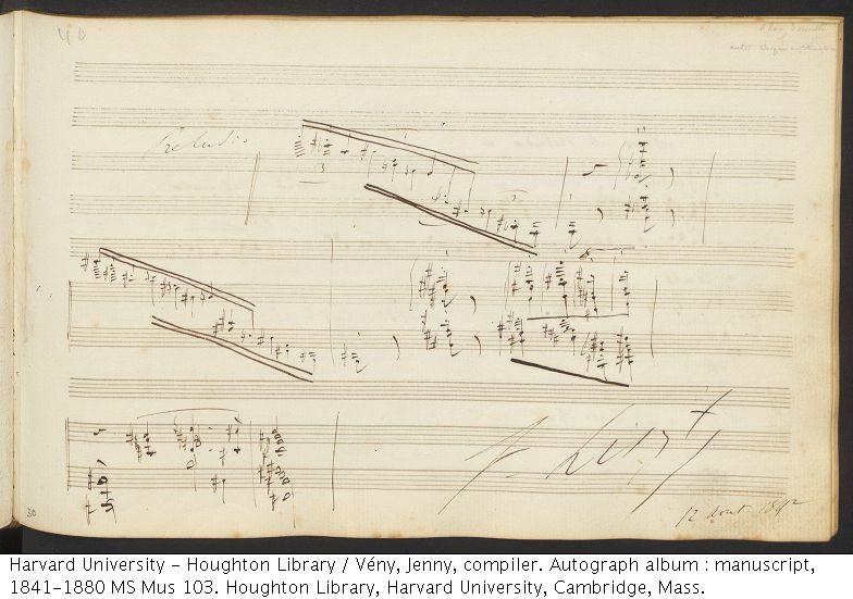 Liszt, Franz, 1811-1886. Preludio. MS Mus 103