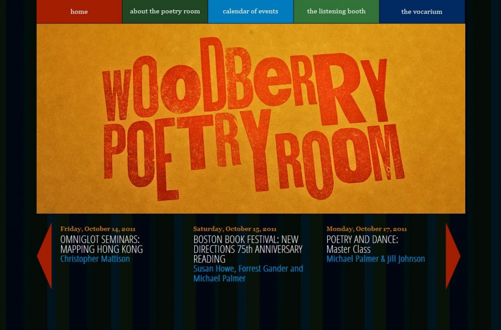 Woodberry Poetry Room homepage