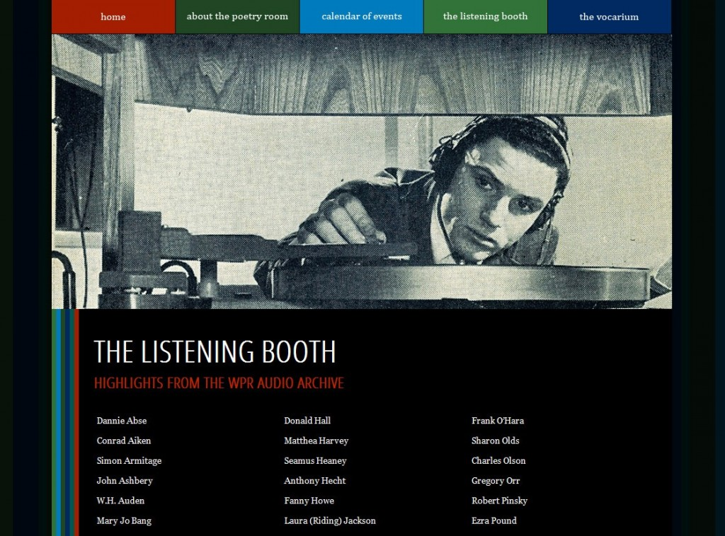 Woodberry Poetry Room Listening Booth