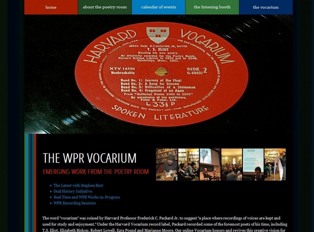Woodberry Poetry Room Vocarium