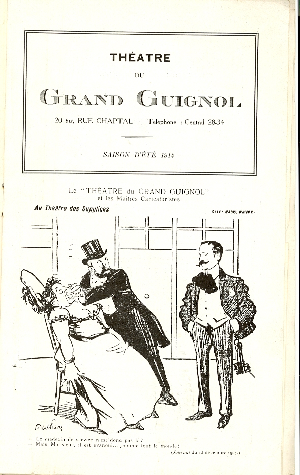 Théâtre du Grand-Guignol. Program, 1914. TCS 70