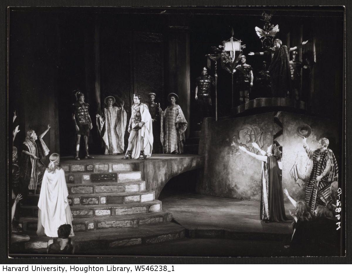 McBean, Angus, photograph of 1959 production of Coriolanus. MS Thr 581