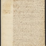 Descartes, René, 1596-1650. A.L.s. to Marin Mersenne; Leyden, 28 Oct 1640, p. 1.MS Eng 1343 (6)