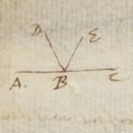 Descartes, René, 1596-1650. A.L.s. to Marin Mersenne; Leyden, 28 Oct 1640, p. 2 (detail) MS Eng 1343 (6)