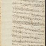 Descartes, René, 1596-1650. A.L.s. to Marin Mersenne; Leyden, 28 Oct 1640, p. 3. MS Eng 1343 (6)