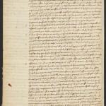 Descartes, René, 1596-1650. A.L.s. to Marin Mersenne; Leyden, 28 Oct 1640, p. 4. MS Eng 1343 (6)