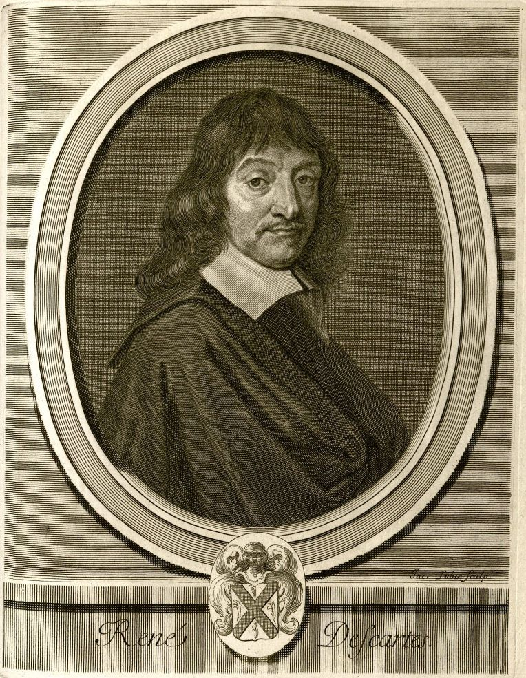 René Descartes. Engraving by Jacques Lubin, after Frans Hals. MS Hyde 77 (1.48.1)
