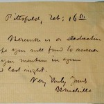 Melville, Herman. Autograph note signed. MS Am 1581(27)