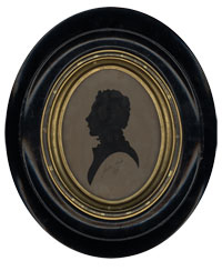John Keats. Paper silhouette, 1819. *42M-486. Purchase, Friends of the Harvard College Library fund, 1943.