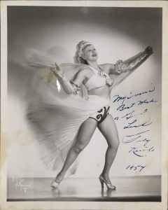 Photographs of female erotic and burlesque performers, ca. 1927-1943, MS Thr 824 (120).