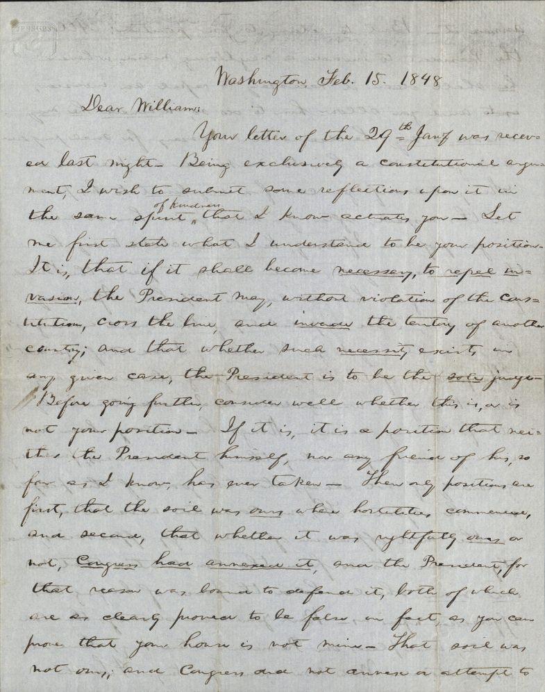 abraham lincoln als to william herndon 1848 autograph file l