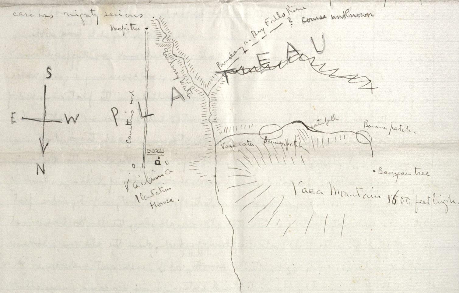 Robert Louis Stevenson. Sketched map. HEW 10.13.21