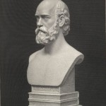 Portrait bust of Theodore Parker, from Life and Correspondence of Theodore Parker, 1864. *2000-436