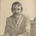 Portrait of Robert Louis Stevenson. HEW 10.11.9