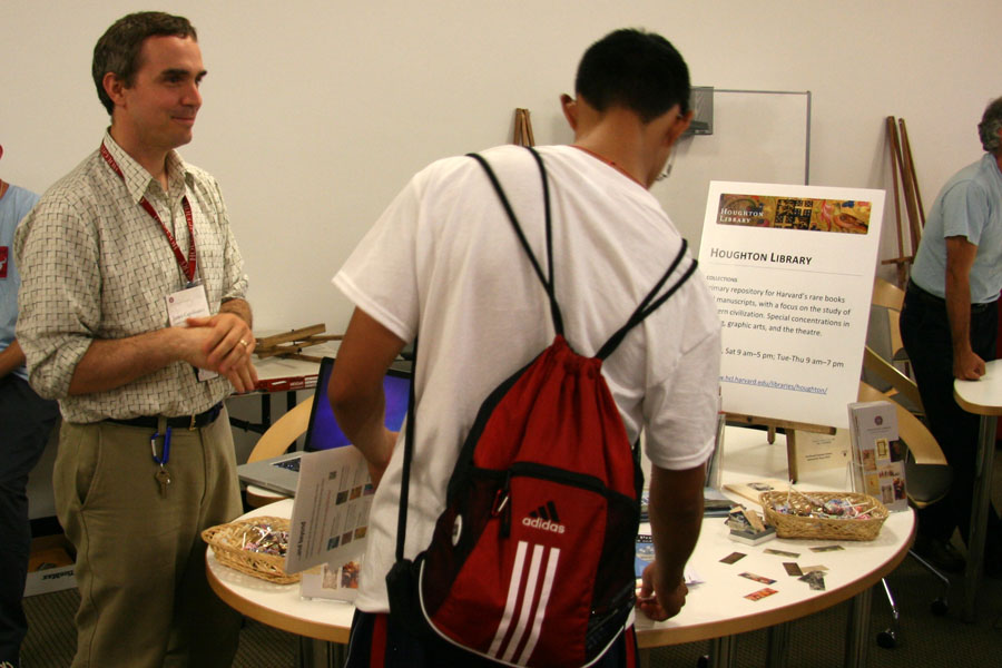 Reference Librarian James Capobianco at Freshman Open House