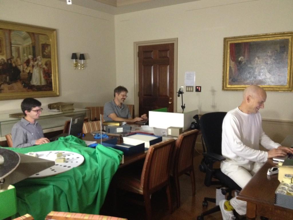 MetaLab scanning team, Houghton Seminar Room