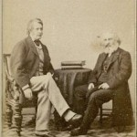 Photograph of Henry Wadsworth Longfellow and Charles Sumner. *2001M-8