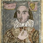 Portrait of Shakespeare on vellum. MS Hyde 60 v.5.