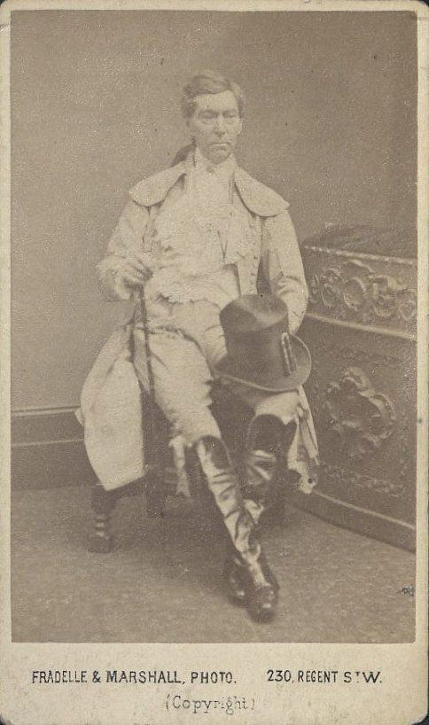 Photo of Charles Mathews as Shuffleton in John Bull, 1873. TCS 18