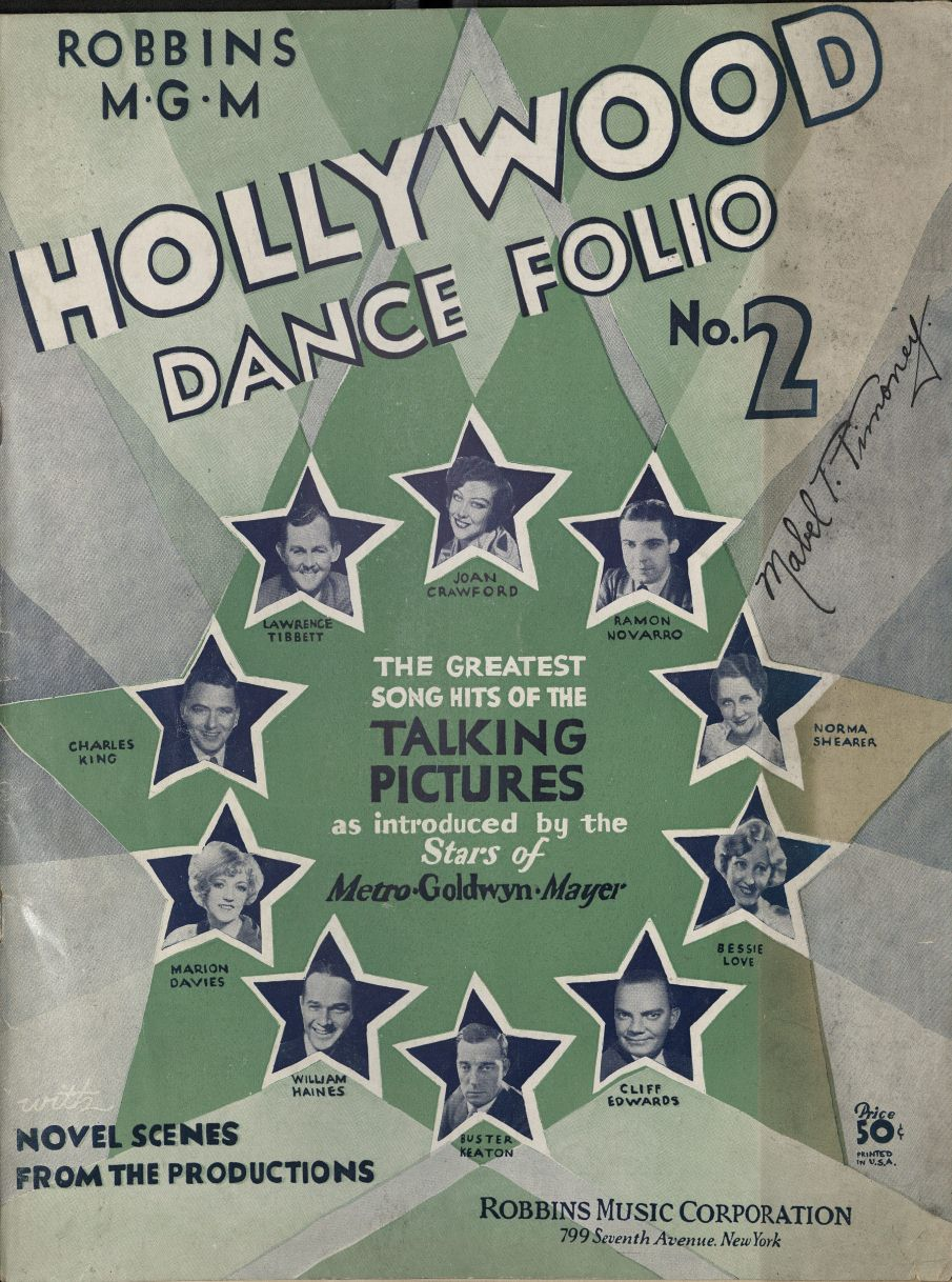 Robbins MGM Hollywood dance folio, no. 2, cover. 2006TW-113(3)