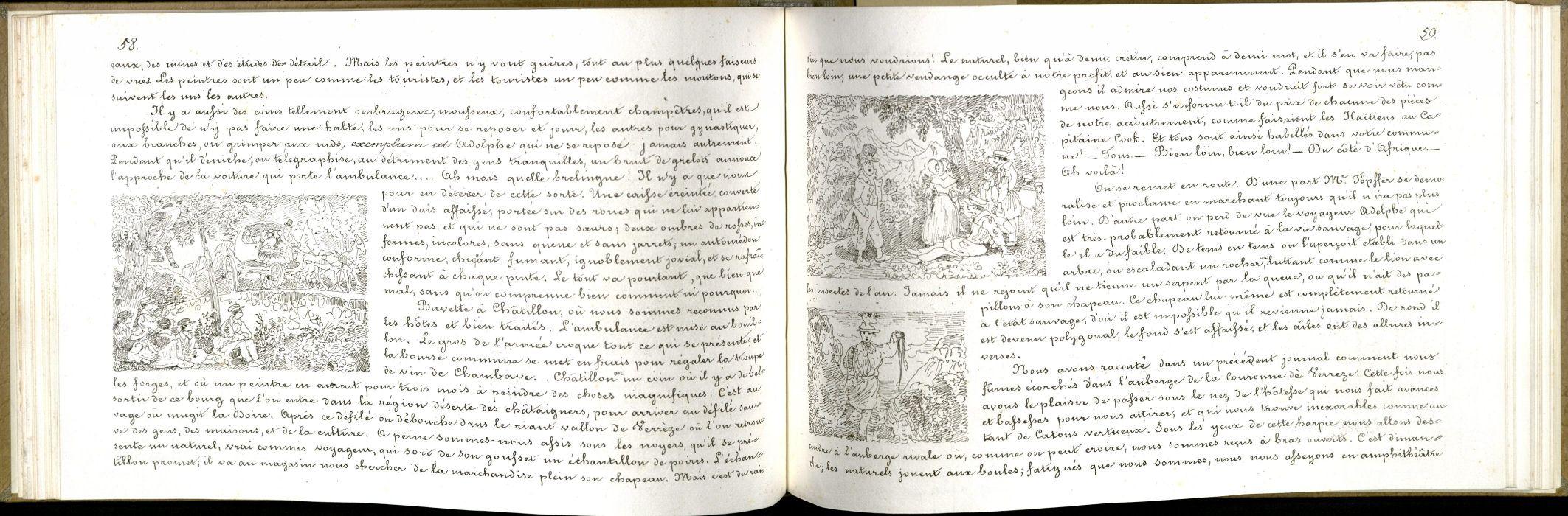 Voyage aux Alpes et en Italie / [Rodolphe Töpffer]. Typ 865.37.8412