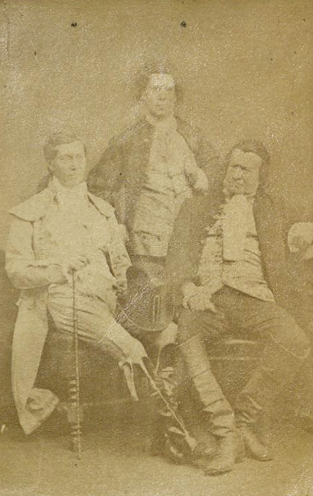 Photo of Phelps, Toole, Mathews in John Bull, 1873. TCS 18