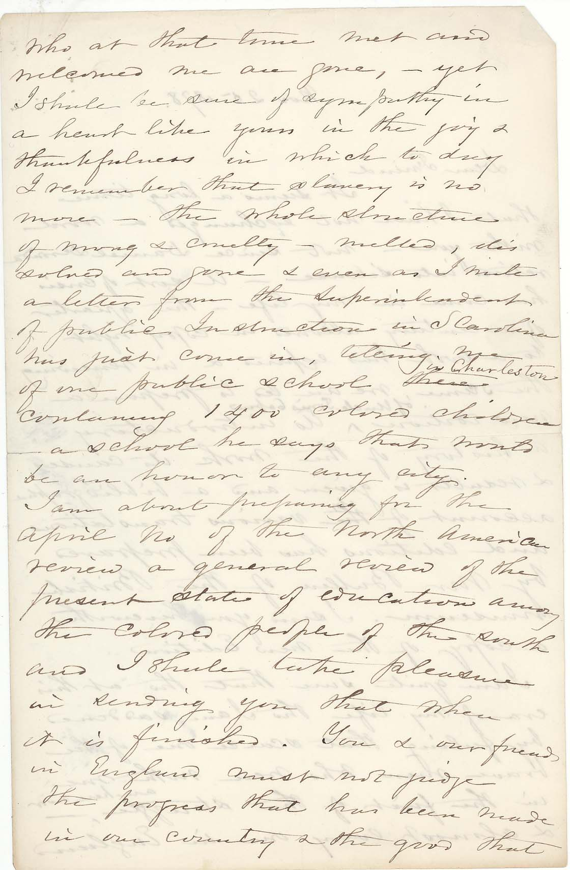 Harriet Beecher Stowe, Letter to George Eliot, 1878. Lowell Autographs, 302a, p.2