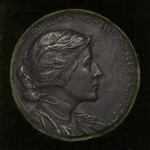 Augustus Saint-Gaudens, medal depicting Mildred Howells, 1897. MS Am 2851 (1)