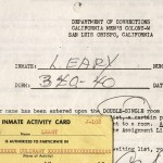 California. Dept. of Corrections. Printed documents with some manuscript additions, 1970. Timothy Leary papers, MS Am 2880 (41)