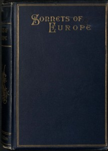 Waddington, Samuel. The Sonnets of Europe, 1886. AC85.M4977.Zz886w (cover)