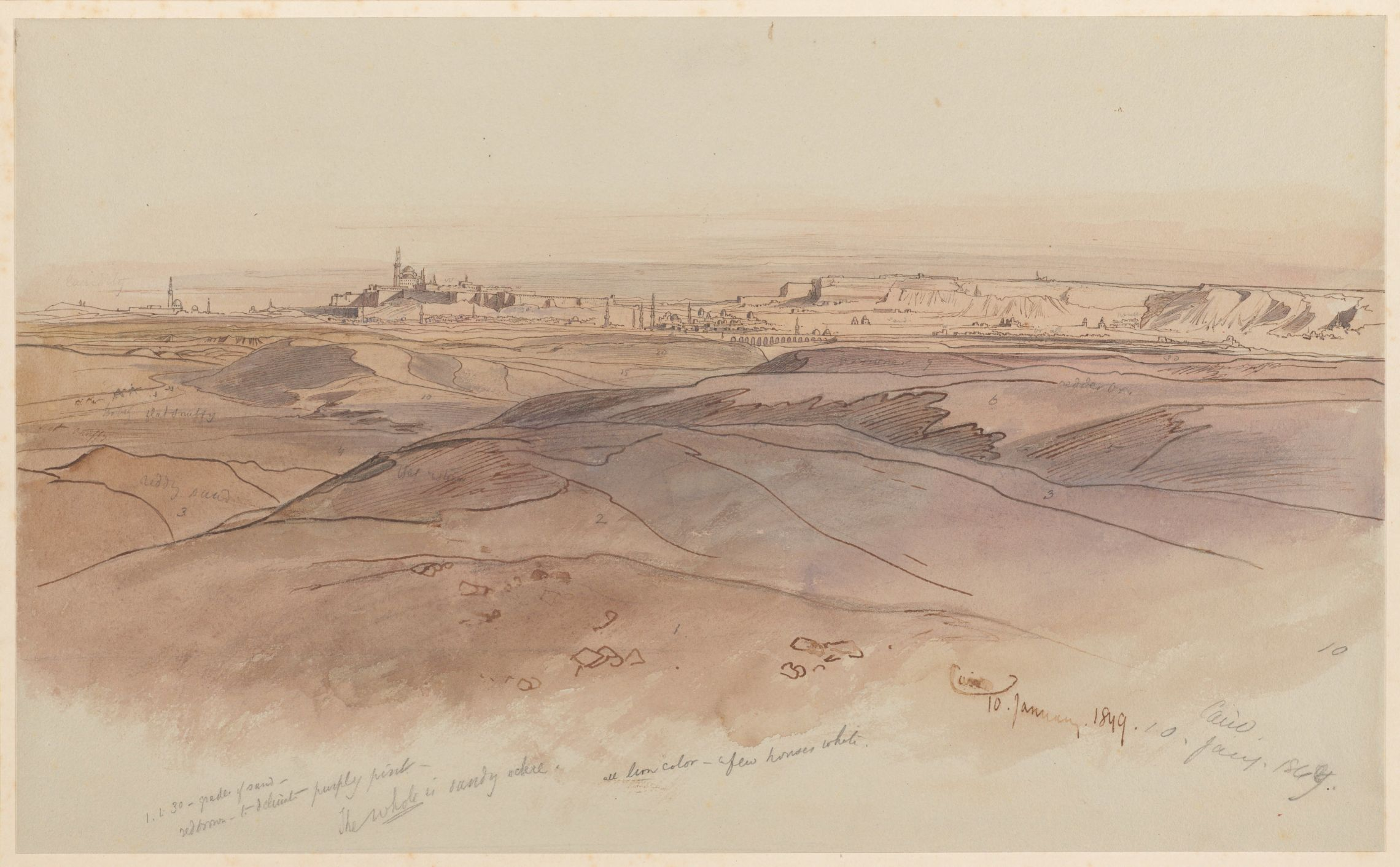 Edward Lear. CAIRO. 10 January 1849. MS Typ 55.26 (646)