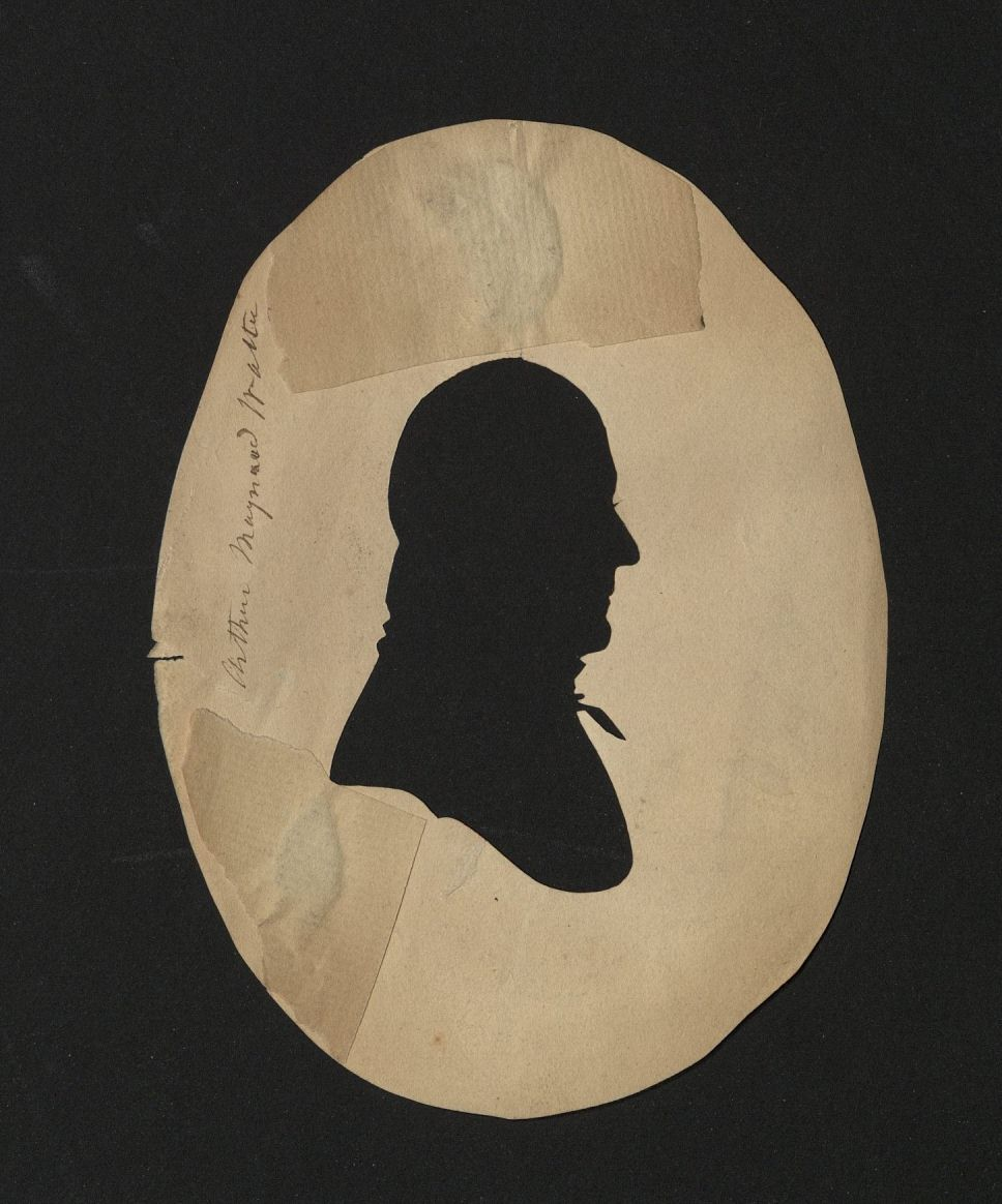 Williams, Moses. Hollow-cut silhouette of Arthur Maynard Walter, ca. 1805. Typ 870.05.8787 verso