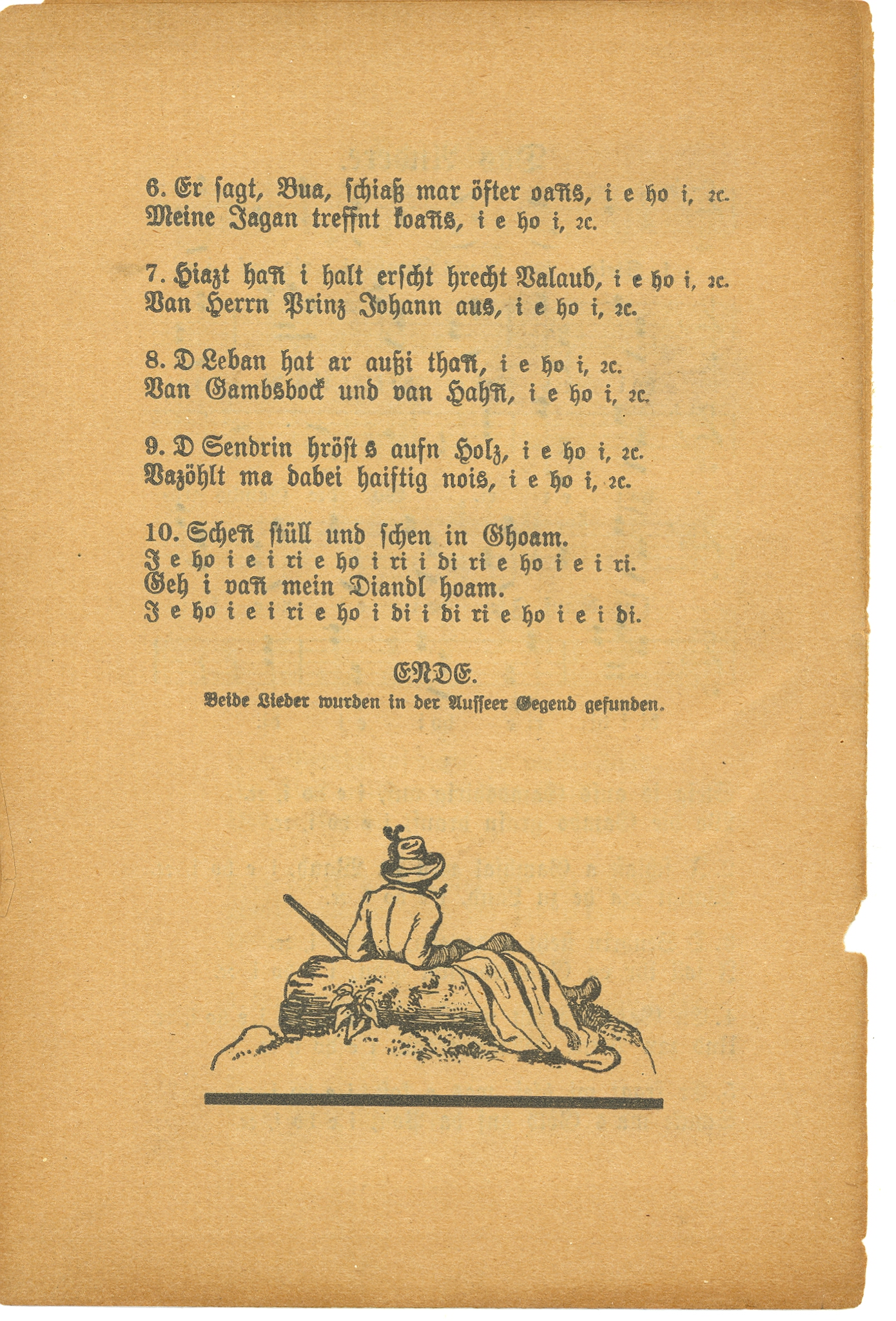 Alte Lieder fürs Landvolk. Nr. 1. Graz, undated. Songster Collection, ca. 1780-1910 (TCS 89). Harvard Theatre Collection, Houghton Library, Harvard University. Box 56, folder 968.