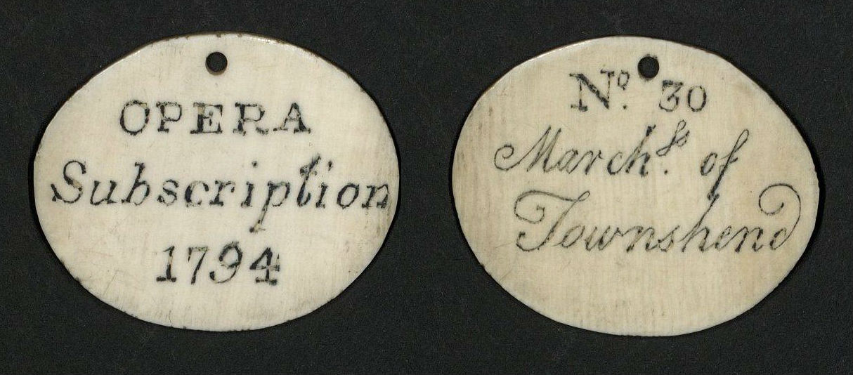 Ivory Subscription Ticket, 1794 (TS 553.801)