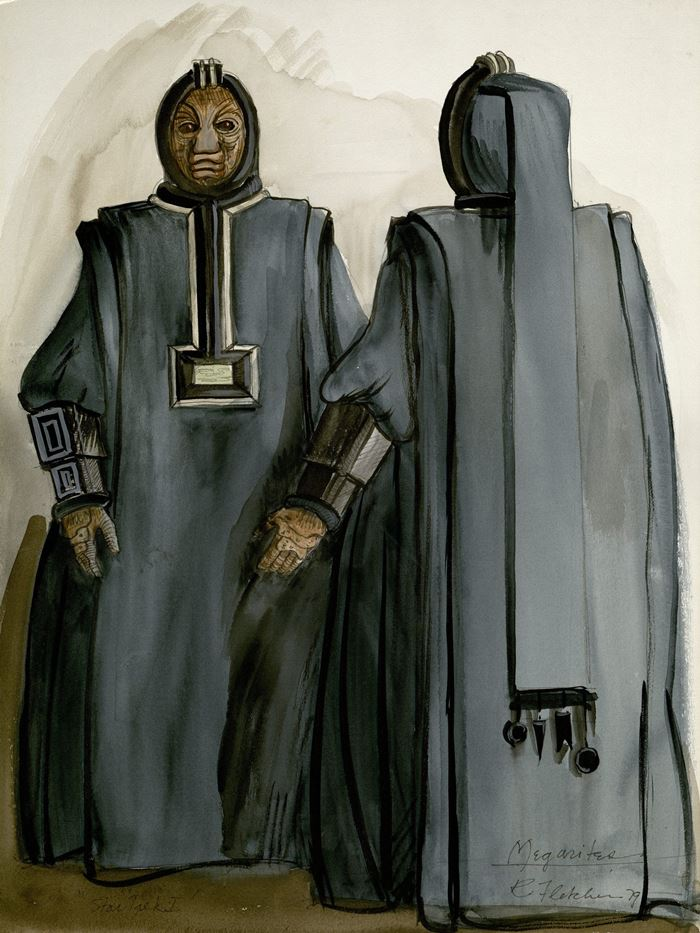Costume design for Megarites. Robert Fletcher, 1979. *2004MT-81