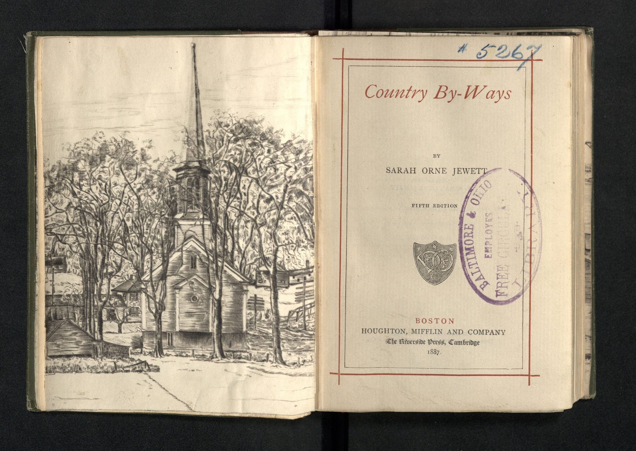 Sarah Orne Jewett. Country By-ways (1887) Typ 870.87.4665