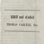 Will of Thomas Carlyle, 1873. MS Am 1792 (8)