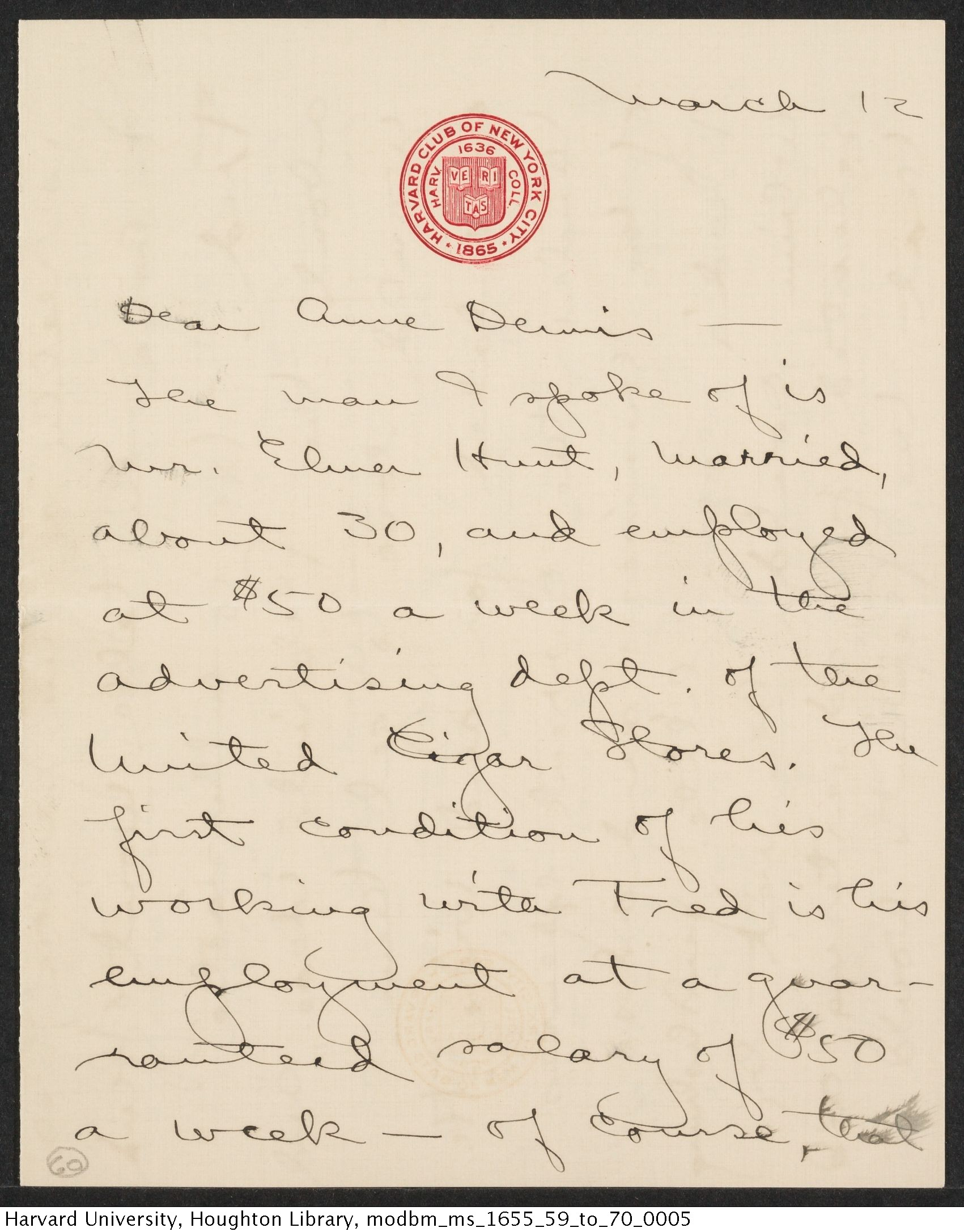 Reed, John, 1887-1920. John Reed additional papers, letters to Anne and Frederick Bursch. MS Am 1655 (60)