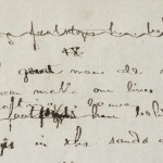 """A Psalm of Life"": Autograph manuscript (detail): MS Am 1340 (72) – Trustees of the Longfellow House Trust, 1976"