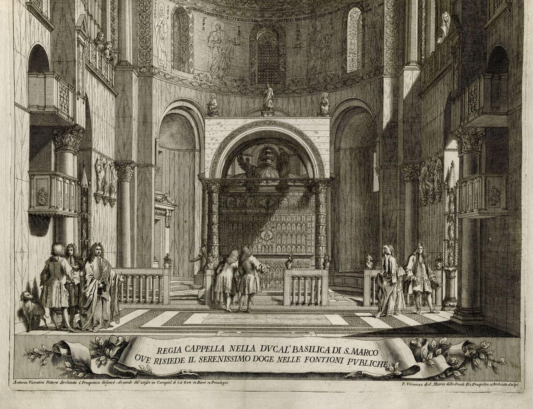 Visentini, Antonio, 1688-1782. Iconografia della Ducal Basilica dell'Evangelista S. Marco (detail). Venice, 1726. 2013H-12