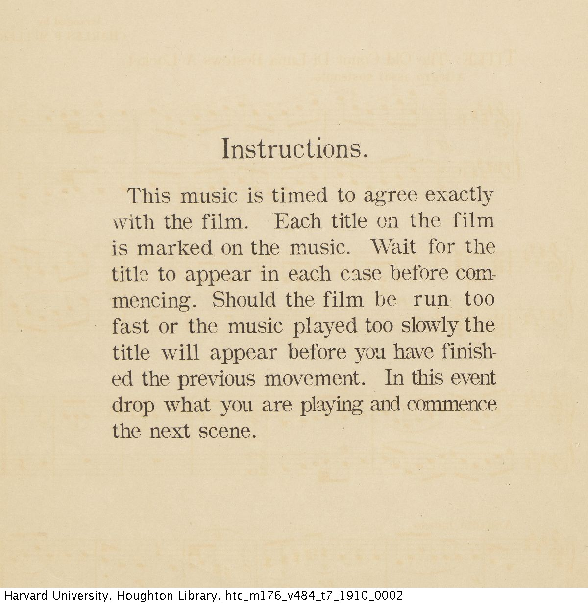 "Verdi, Giuseppe, 1813-1901. Incidental music to Pathé Frères film d'art ""Il trovatore"" / arranged by Charles P. Müller. New York : Pathé Frères, c1910. M176.V484 T7 1910"