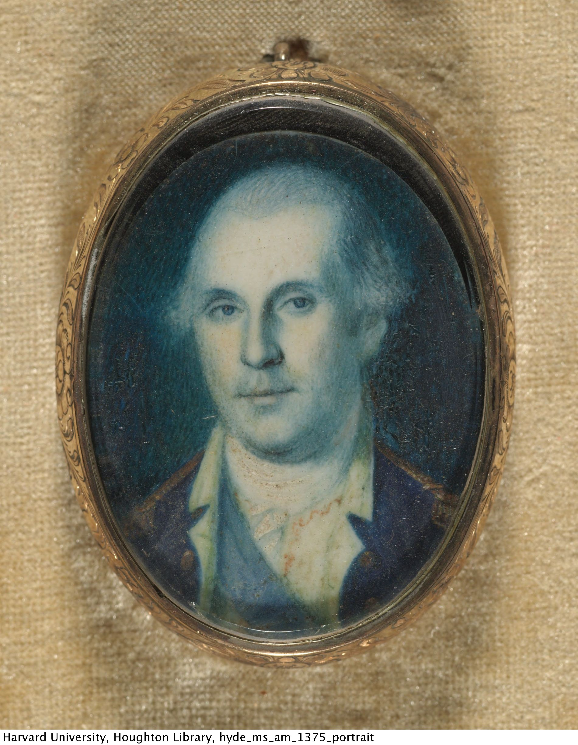 Peale, Charles Willson, 1741-1827, artist. Portrait of George Washington, [ca. 1775] MS Am 1375