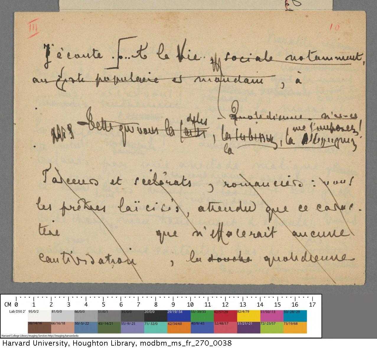 Mallarmé, Stéphane, 1842-1898. [Le livre] : manuscript, [undated]. MS Fr 270