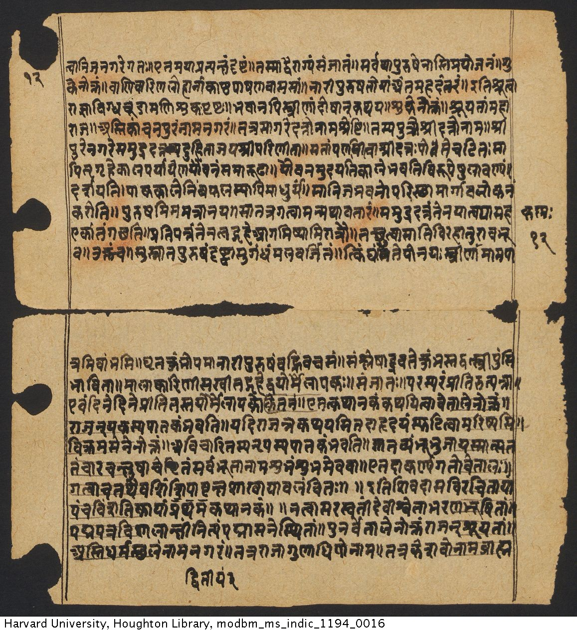 Śivadāsa, active 1487. Vetālapañcaviṃśati : manuscript. MS Indic 1194.