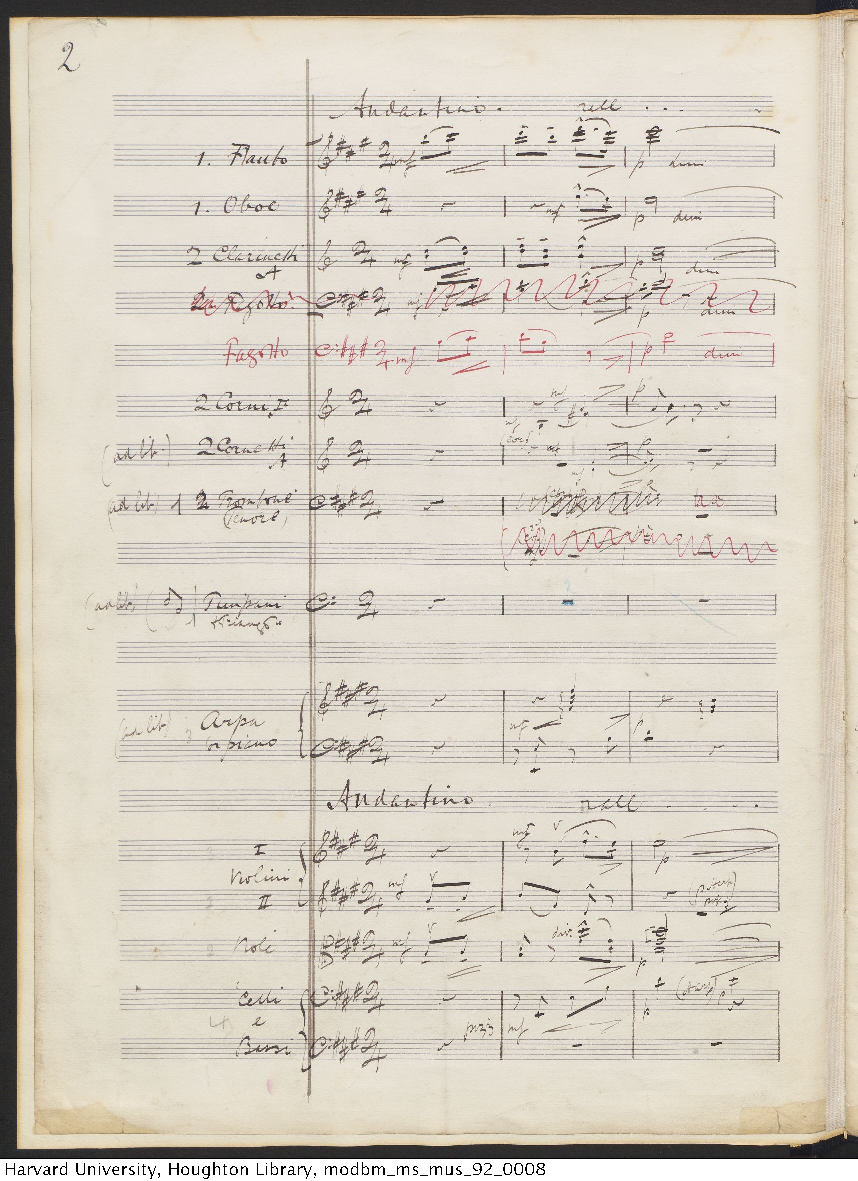 Elgar, Edward, 1857-1934. May-song : by Edward Elgar : manuscript, [1901?] MS Mus 92