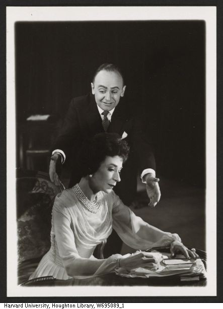 Jerome Kilty and Cavada Humphrey in Dear Liar, 1960. Angus McBean Photograph (MS Thr 581). © Harvard Theatre Collection, Harvard University