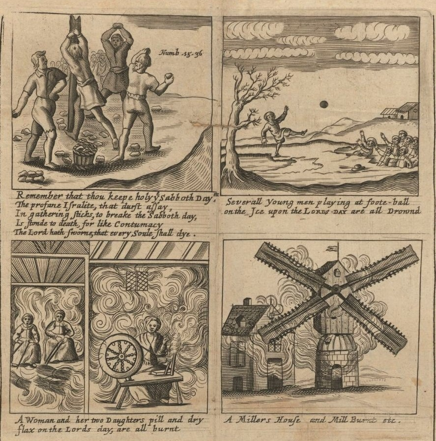 Divine examples of God's severe judgments upon Sabbath-breakers, in their unlavvful sports, 1671. EB65 A100 B675b v.3