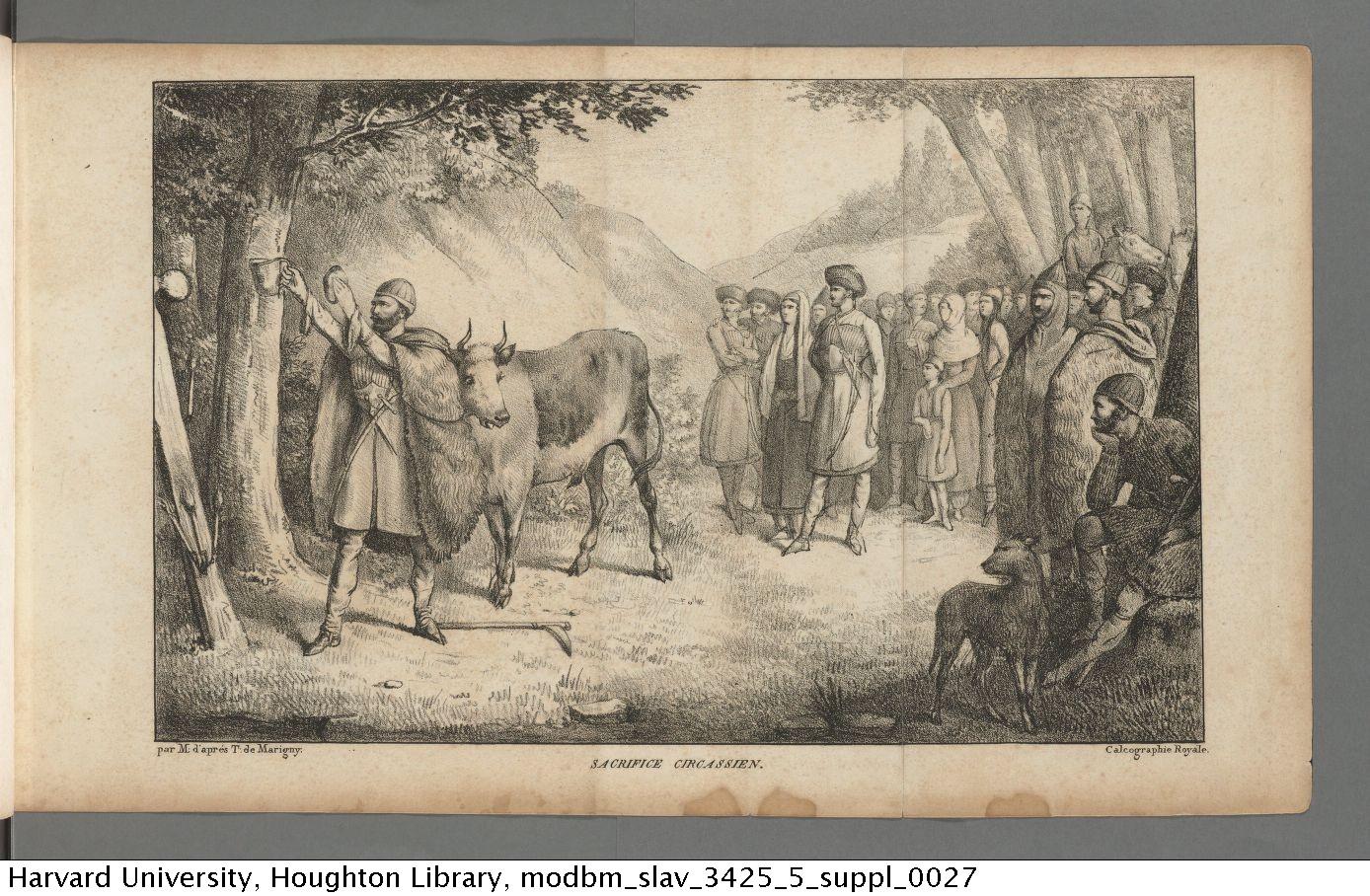 Taitbout de Marigny, Edouard, chevalier. <em>Voyage en Circassie</em>, 1821. Slav 3425.2.5* Suppl.